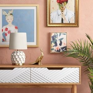 Opalhouse | Floral Wooden Canvas Wall Art